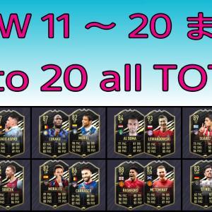 FIFA21 TOTW 11 ~ 20 全選手まとめ/ List of TOTW