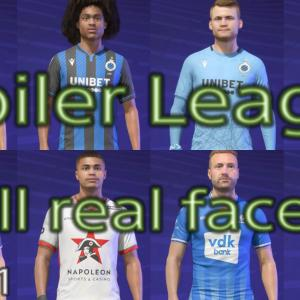 FIFA21 ジュピラーリーグ固有フェイスのまとめです/Jupiler League all real faces list