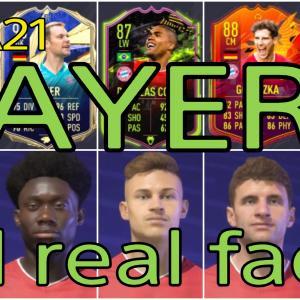 FIFA21 バイエルンミュンヘン固有フェイスまとめ/BAYERN all real faces