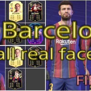 FIFA21 バルセロナ固有フェイスまとめ/FC Barcelona all real faces