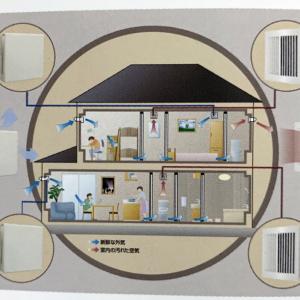 第10回設計打ち合わせ 24時間換気設備は、第3種機械換気(吸気は自然で、排気は電動ファン)