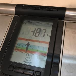 49kg達成から約2ヶ月。今の体重