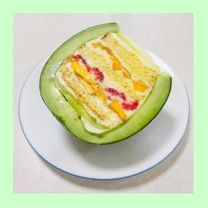 SNSで話題♡メロンケーキ作ってみました