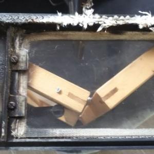 薪ストーブのガスケットロープ交換
