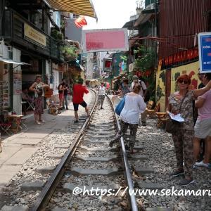 【ベトナム】ハノイ 悲報…大人気観光地の一つハノイのトレインストリートに入れない!?