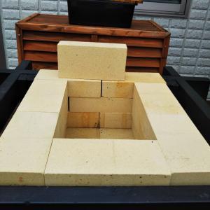 石窯製作(その7:耐火煉瓦積み)