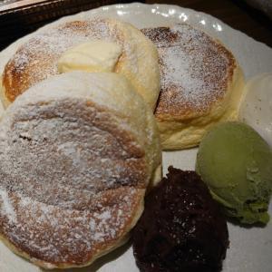 タレントのMEGUMIさんがオーナーのお洒落な古民家カフェ、金沢ひがし茶屋街にあるCafeたもん(多聞)でふっわふわなパンケーキ。