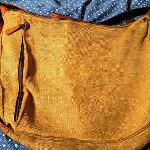 山口絵理子さんが立ち上げたブランド「マザーハウス」、ジュートでできたバングラデシュ製ショルダーバッグ。