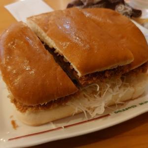 石川県野々市市矢作のコメダ珈琲店で、カツパン初挑戦。