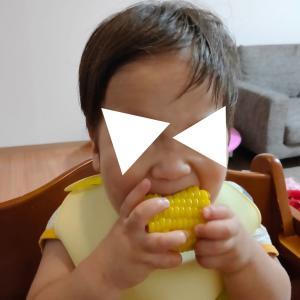 夏野菜♡&スプーンフォークのレベルアップ(1歳6ヶ月)
