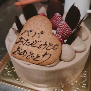 誕生日ケーキはパティスリーアンブルで✩.*˚