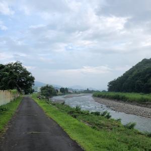 夕方の依田川