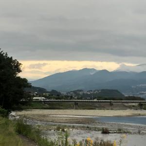 今朝の依田川