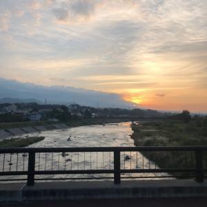 今朝の千曲川、依田川