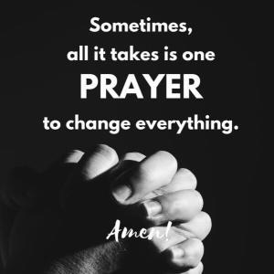 1つの祈りは…