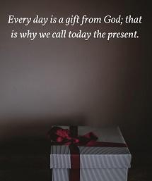 今日はプレゼント