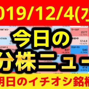 【WIZE】 《Youtube株式動画ニュース》【JumpingPoint!!の10分株ニュース】2019年12月4日(水)
