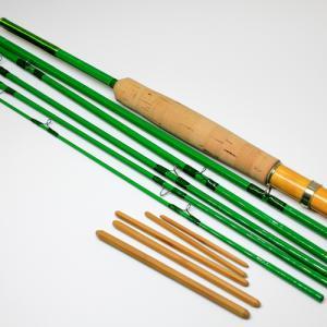 緑色のバンブーロッドを作ってみた【7ft0in 6pc】