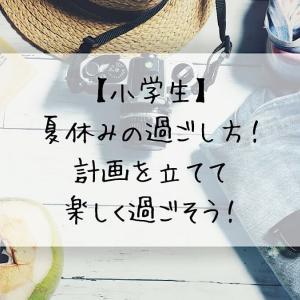 【小学生】夏休みの過ごし方!計画を立てて楽しく過ごそう!