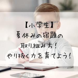 【小学生】夏休みの宿題の取り組み方!やり抜く力を育てよう!
