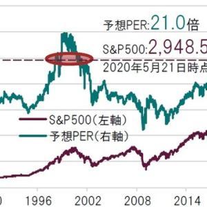 【悲報】S&P500指数、予想PERが21倍とITバブル期の水準に迫る。それでも株を買い続ける理由。