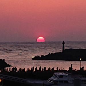 台湾で1番綺麗な夕日の写真と台湾の状況。