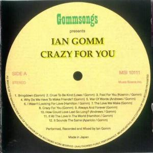 Ian Gomm / Crazy For You
