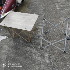 キャンカーテーブル周り、キャンプテーブル快適化
