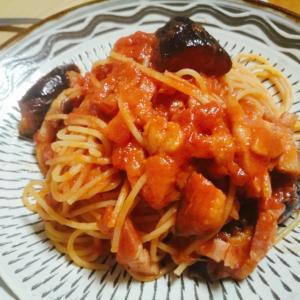 ベーコンと揚げナスのトマトパスタ【絶対美味しいプロが作る王道】