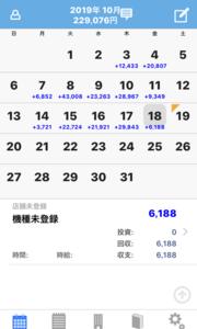 【MAM1】10月18日の利益は0.6万円の利益。