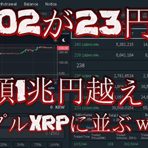 【快挙】Z502さん、23円台に突入…時価総額1兆円を突破しリップルXRPに並ぶwwwwwwwwwもはや草コインではない件