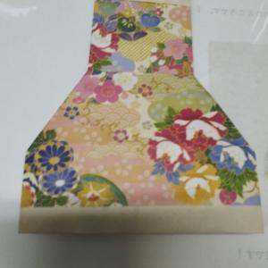 デイケアの母の日折り紙作業
