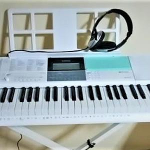 カシオの電子ピアノ(LK-512)買った。