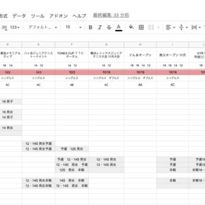 大会別一覧表(10月〆切分)
