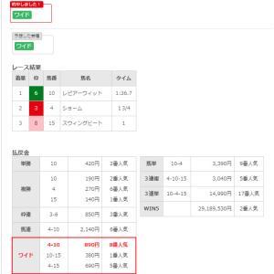 5/26(日)本日1的中(><)JRA入出金記録公開