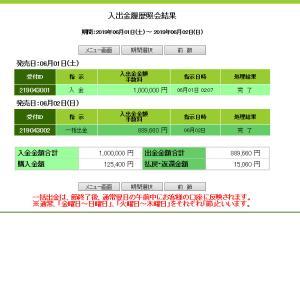 6/1(土)6/2(日)今週0的中(><)・・・JRA入出金記録公開