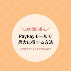 「MAX20%戻りまーす」のPayPayモールオープニングキャンペーンの得する使い方。
