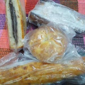 甘いパンしか残ってなかった~。。😬