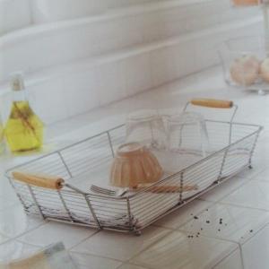 わが家のキッチンちょこっと見せ(水切りかご)🍳😋