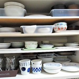 キッチン食器棚(上の開き)整理収納🧹