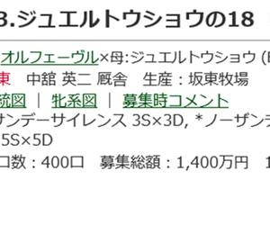 ☆2018年度産駒20200115(ジュエルトウショウの18_オリエンタルポピーの18)☆