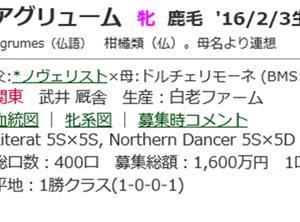 ☆2016年度産駒_20200115(アグリューム)☆