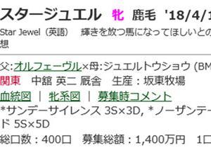 ☆2018年度産駒20200529(スタージュエル_シャーレイポピー)☆