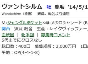 ☆2014年度産駒_20200708(ヴァントシルム)☆