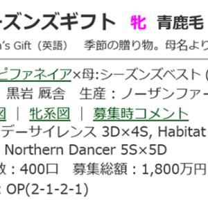 ☆2017年度産駒_20201203(シーズンズギフト)☆