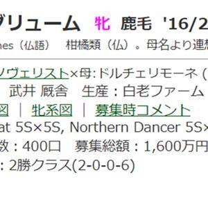 ☆2016年度産駒_20210731(アグリューム)☆