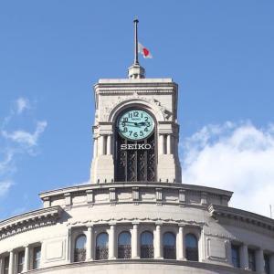 3月11日 和光の時計塔から「未来への希望の鐘」を鳴らす