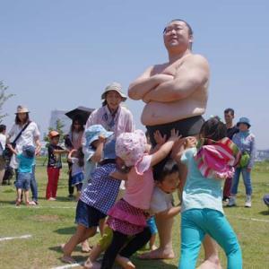 公園に本物のお相撲さんがやってくる!都立東京臨海広域防災公園「ちびっこ相撲」開催