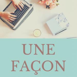【フランス語の単語】une façonの意味・発音