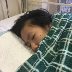 レスパイトからの、入院しています…
